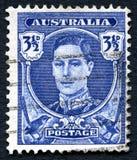 乔治六世国王澳大利亚邮票 免版税库存图片
