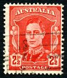 乔治六世国王澳大利亚邮票 免版税图库摄影