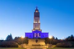 乔治・华盛顿共济会国家纪念堂在亚历山大VA 免版税库存图片