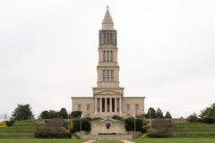 乔治・华盛顿共济会国家纪念堂在冬天 免版税库存照片