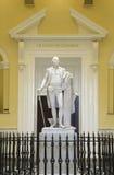乔治华盛顿原始的与实物大小一样的雕象  库存图片