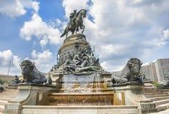 乔治・华盛顿喷泉水牛城细节 库存照片