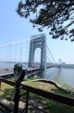乔治・华盛顿桥梁 图库摄影