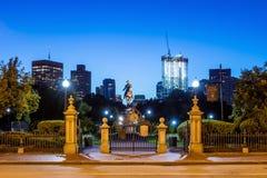乔治・华盛顿纪念碑在公园波士顿里 库存图片