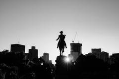 乔治・华盛顿纪念碑在公园波士顿里 免版税图库摄影
