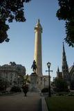 乔治・华盛顿纪念碑在巴尔的摩马里兰 库存照片