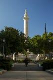 乔治・华盛顿纪念碑在巴尔的摩马里兰 免版税库存照片