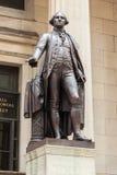 乔治・华盛顿雕象在华尔街-曼哈顿-纽约 库存图片