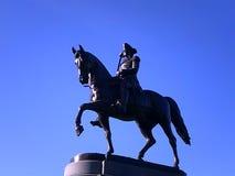 乔治・华盛顿雕象,波士顿公园,波士顿,马萨诸塞,美国 图库摄影