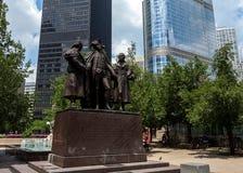 乔治・华盛顿,罗伯特莫妮斯, Haym所罗门纪念品纪念碑 免版税库存照片