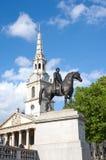 乔治四世国王雕象特拉法加广场的 库存照片
