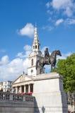 乔治四世国王雕象特拉法加广场的 库存图片