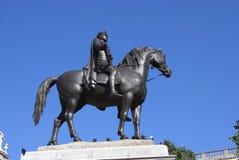 乔治四世国王骑马雕象,伦敦,英国 库存照片