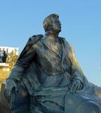 乔治・埃内斯库雕象罗马尼亚语的国家歌剧院,布加勒斯特 免版税库存图片