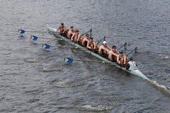乔治城大学在查尔斯赛船会头赛跑  库存照片