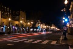乔治城,华盛顿特区在黎明 库存图片