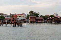 乔治城,槟榔岛,马来西亚- 2016年4月18日:李跳船是在水建造的一个小村庄由中国氏族在19世纪 库存照片
