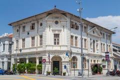 乔治城,槟榔岛/马来西亚-大约2015年10月:英国殖民地大厦在乔治城,槟榔岛,马来西亚 免版税图库摄影