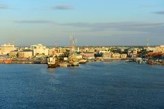 乔治市口岸,开曼群岛 免版税库存照片