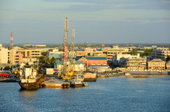 乔治市口岸,开曼群岛 免版税库存图片