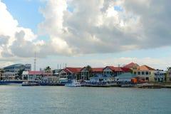 乔治市口岸,开曼群岛 库存照片
