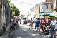 乔治市,槟榔岛,大约2015年9月06日的马来西亚:公众 库存照片