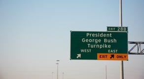 乔治・布什总统收费公路 免版税图库摄影