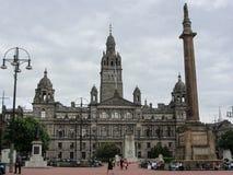 乔治广场,格拉斯哥,苏格兰 库存照片