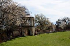 贴水乔治斯教会在一点Prespa的 免版税库存图片