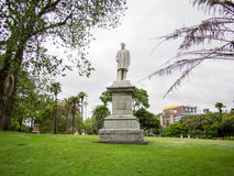 乔治灰色雕象在阿尔伯特公园,奥克兰,新西兰的 免版税图库摄影