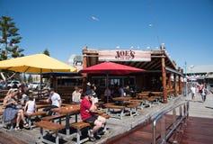 乔` s鱼棚子海鲜餐馆 免版税图库摄影