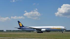 乘出租车在阿姆斯特丹机场, AMS的喷气航空公司 免版税库存照片