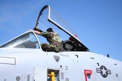 乘员组喷气式歼击机 免版税库存图片