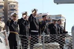乘员组土耳其军舰 免版税库存照片