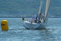乘员组游艇 免版税库存照片