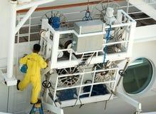 乘员组游轮工作 库存照片