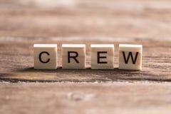 乘员组和队的概念在事务 库存照片