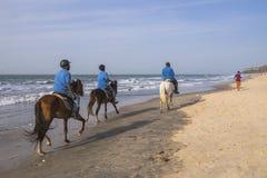 乘坐在海滩 免版税库存图片