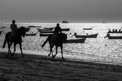 乘坐在海滩 免版税库存照片