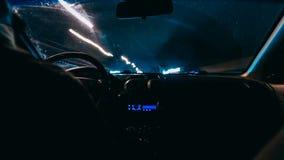 乘坐穿过城市由汽车时间间隔录影 影视素材