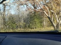 乘坐通过乡下 图库摄影