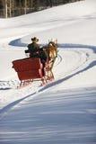 乘坐雪橇 免版税库存图片
