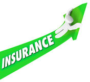 乘坐高费用费用医疗价格的保险人 库存图片