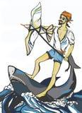 乘坐鲨鱼 免版税库存图片