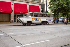 乘坐鸭子西雅图 免版税库存图片