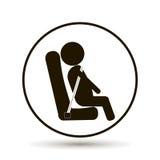 乘客乘公共汽车,汽车旅行 库存例证