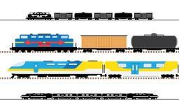 乘客和运输火车 图库摄影