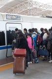 乘客在培训准备 免版税图库摄影