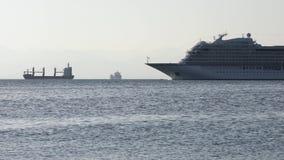 乘客巡航划线员北欧海盗猎户星座航行在太平洋 股票视频