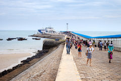 乘客码头,涠洲岛,中国 免版税库存照片